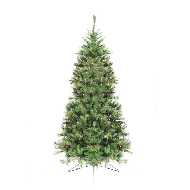 Half Christmas Tree.7 5 Pre Lit Canyon Pine Artificial Half Wall Christmas Tree Clear Lights