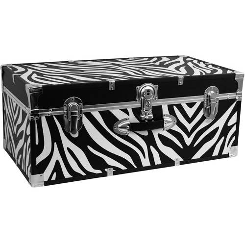 "Mercury Luggage Seward Trunk Stackable Storage Footlocker, 30"""