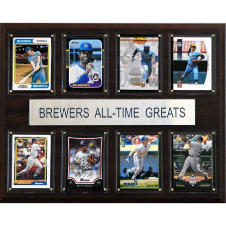 C&I Collectables MLB 12x15 Milwaukee Brewers All-Time Greats Plaque