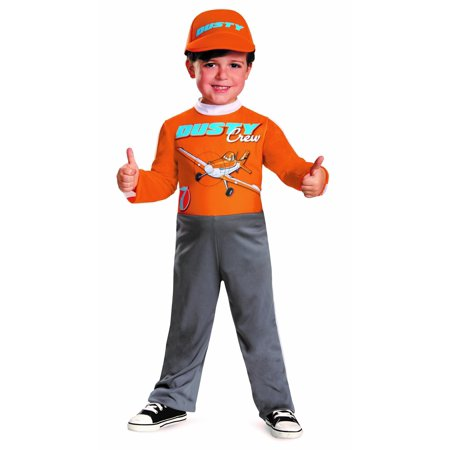 Dusty Crophopper Halloween Costume (Disney Planes Dusty Crophopper Toddlers Costume Jumpsuit/Hat Size S)