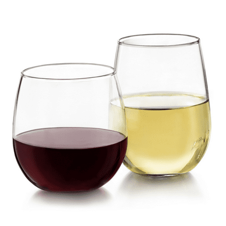 Libbey Stemless 12-piece Wine Glass Set NEW FREE (Glasses Free Shipping)