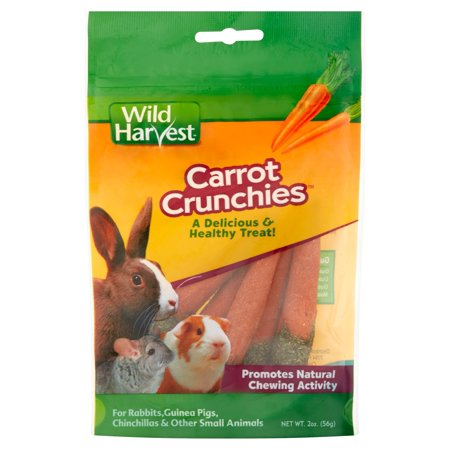 (2 Pack) Wild Harvest Carrot Crunchies for Small Animals, 2-Ounce