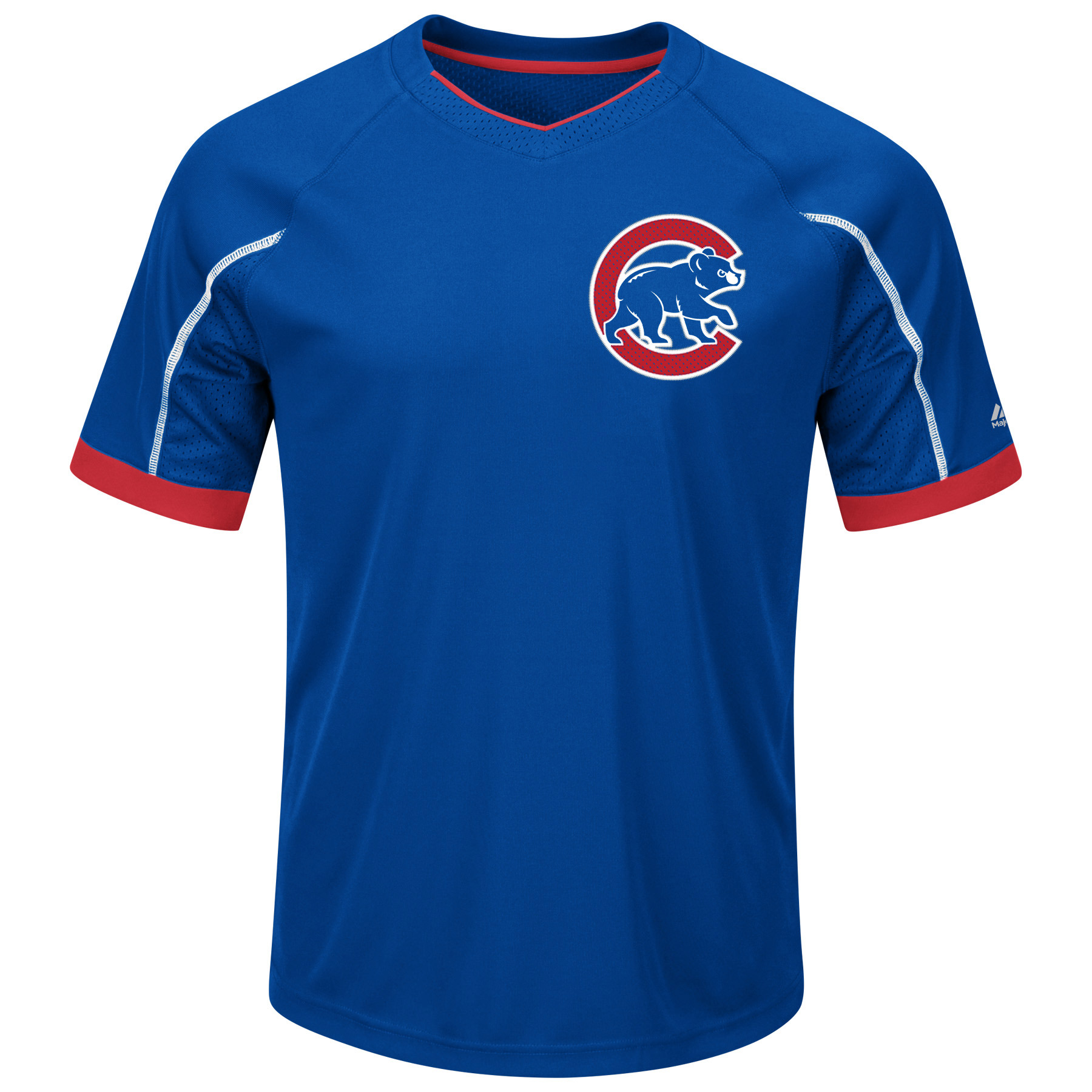 Chicago Cubs Majestic Big & Tall Emergence V-Neck T-Shirt - Royal/Red