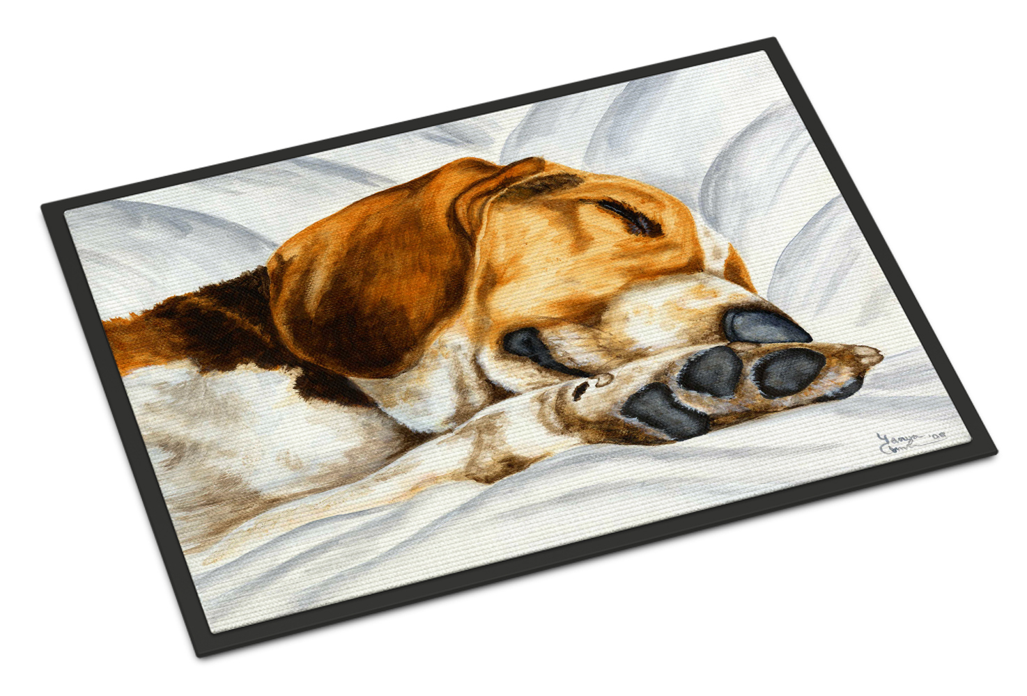 Beagle Bliss Doormat by Caroline's Treasures