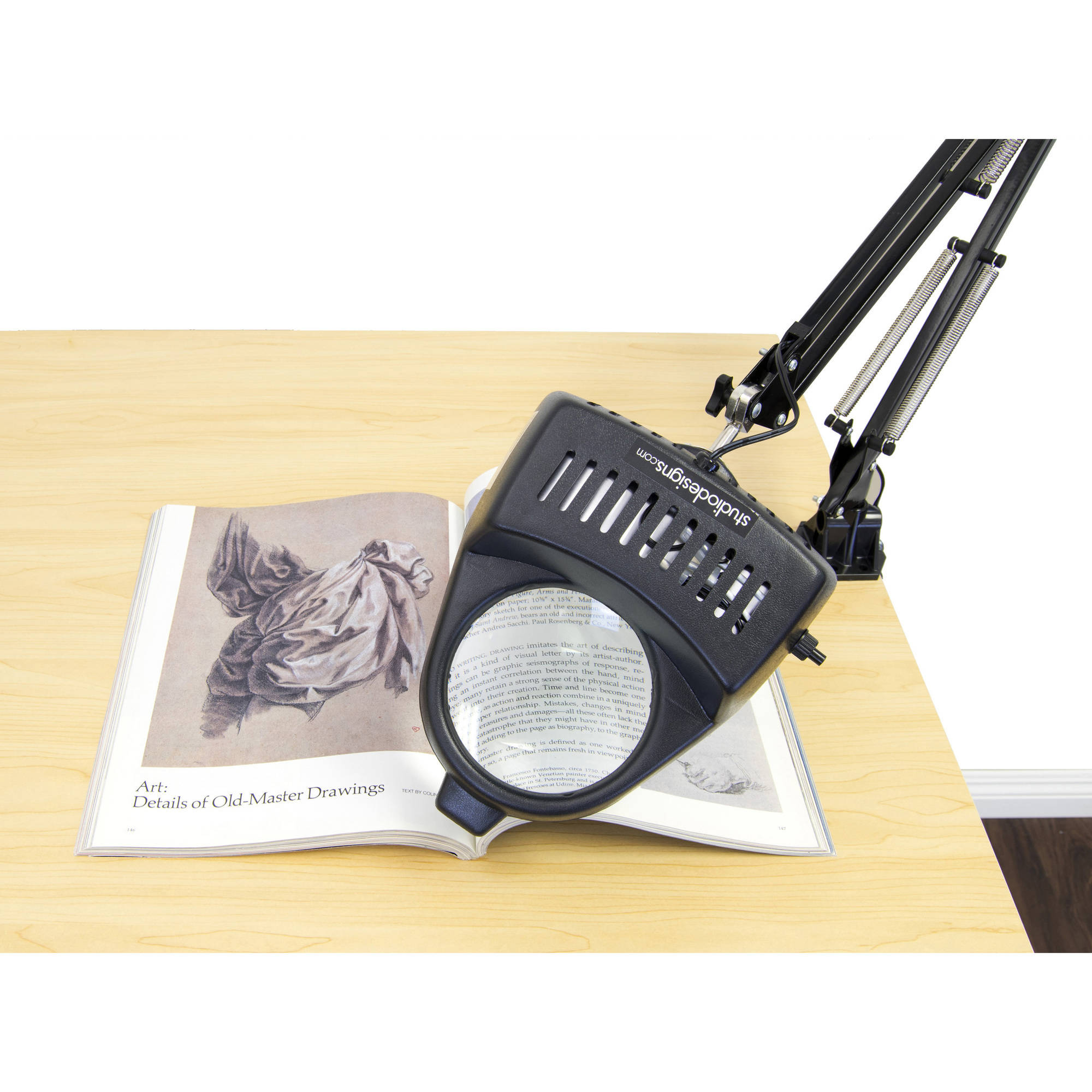LED Magnifying Lamp, Black