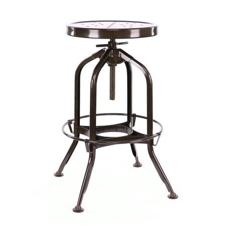 Design Lab MN LS-9200-RST Toledo Brown Adjustable Barstool ()