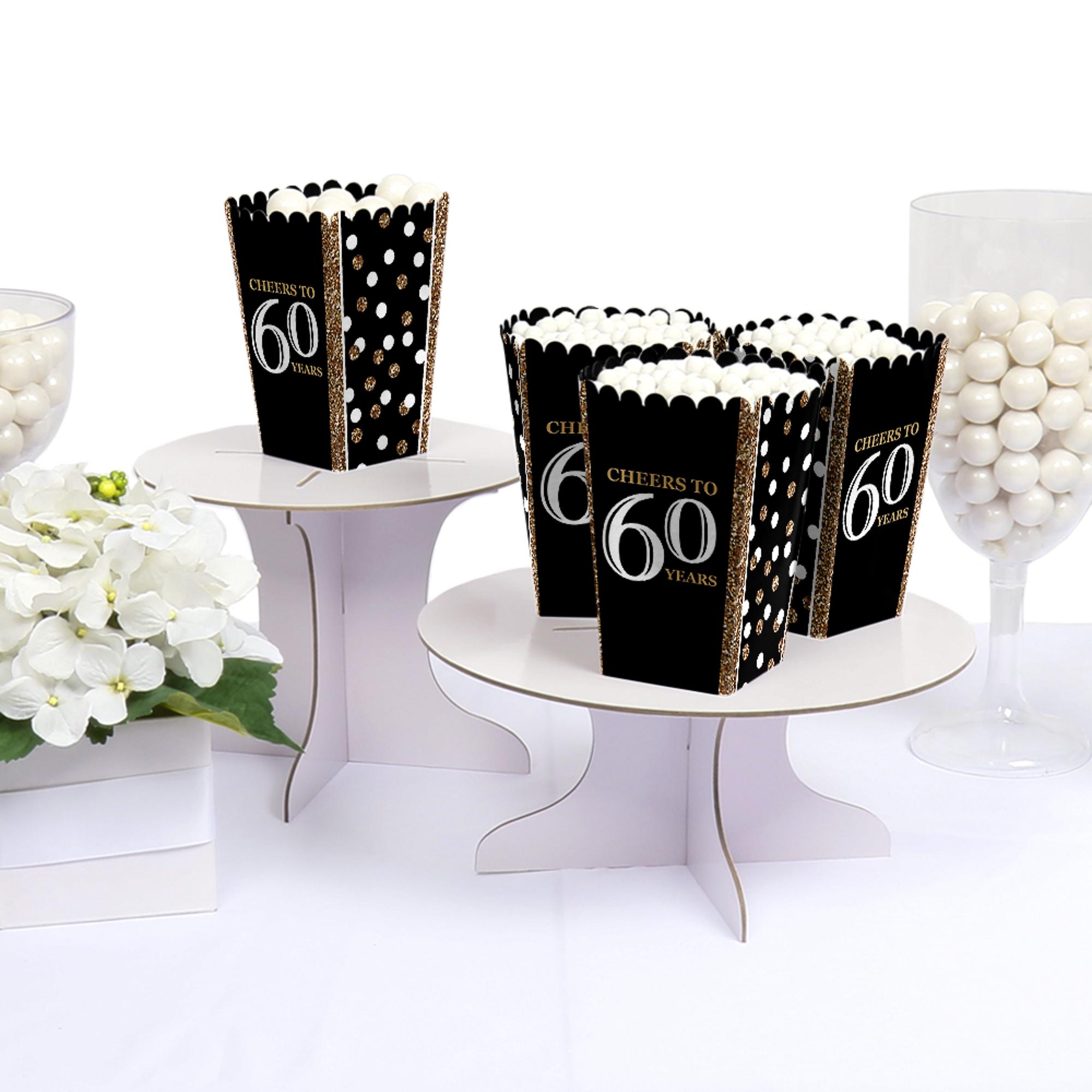 Adult 60th Birthday - Gold - Birthday Party Favor Popcorn Treat ...