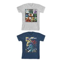 Roblox Boys Character Panel & Action Graphic T-Shirts 2-Pack, Sizes 4-18