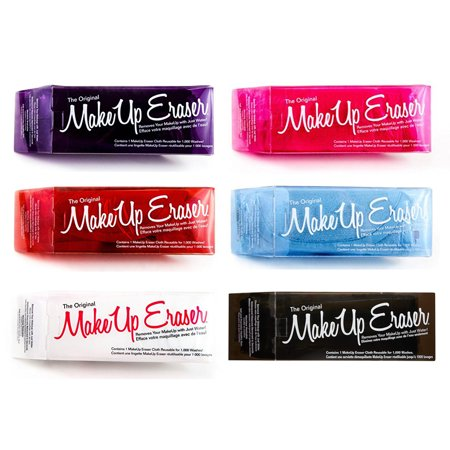 Makeup Eraser The Original Facial Cloth Pink Purple Black White Red Blue