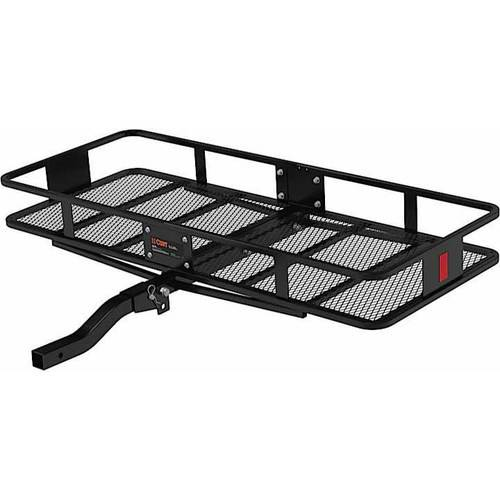 "Curt Manufacturing Cur18153 60"" x 24"" with 6"" Rails Class III Cargo Carrier Basket Folding Shank"