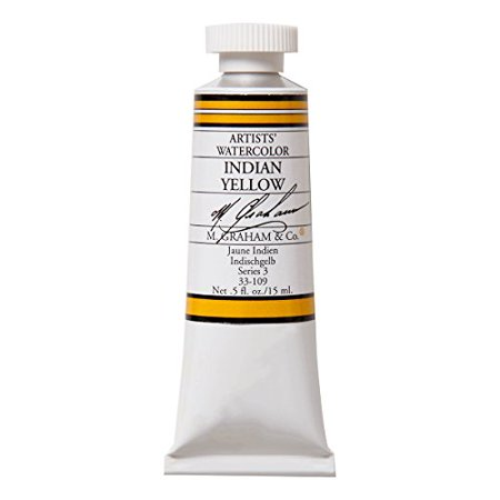 M. Graham 1/2-Ounce Tube Watercolor Paint, India Yellow ()