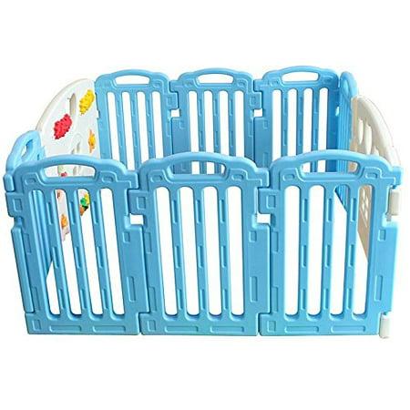 7ad774079d372 Baby Playpen Kids 10 Panel Safety Play Center Yard Home Indoor Outdoor Pen  - Walmart.com