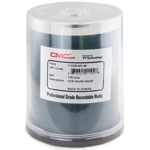 100 CMC Pro Taiyo Yuden 52X CDR (CD-R) 80min 700MB Silver Inkjet Printable