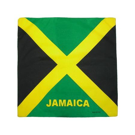Size one size Cotton Jamaican Flag Bandana, Jamaica