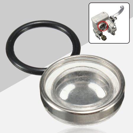 18mm Motorcycle Bike Brake Master Cylinder Reservoir One Sight Glass Lens Gasket (Motorcycle Break Reservoir)