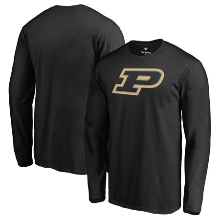Purdue Boilermakers Fanatics Branded Primary Team Logo Long Sleeve T-Shirt - Black