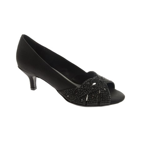Dyeables Black Satin - dyeables tracy color black size 8.5 w