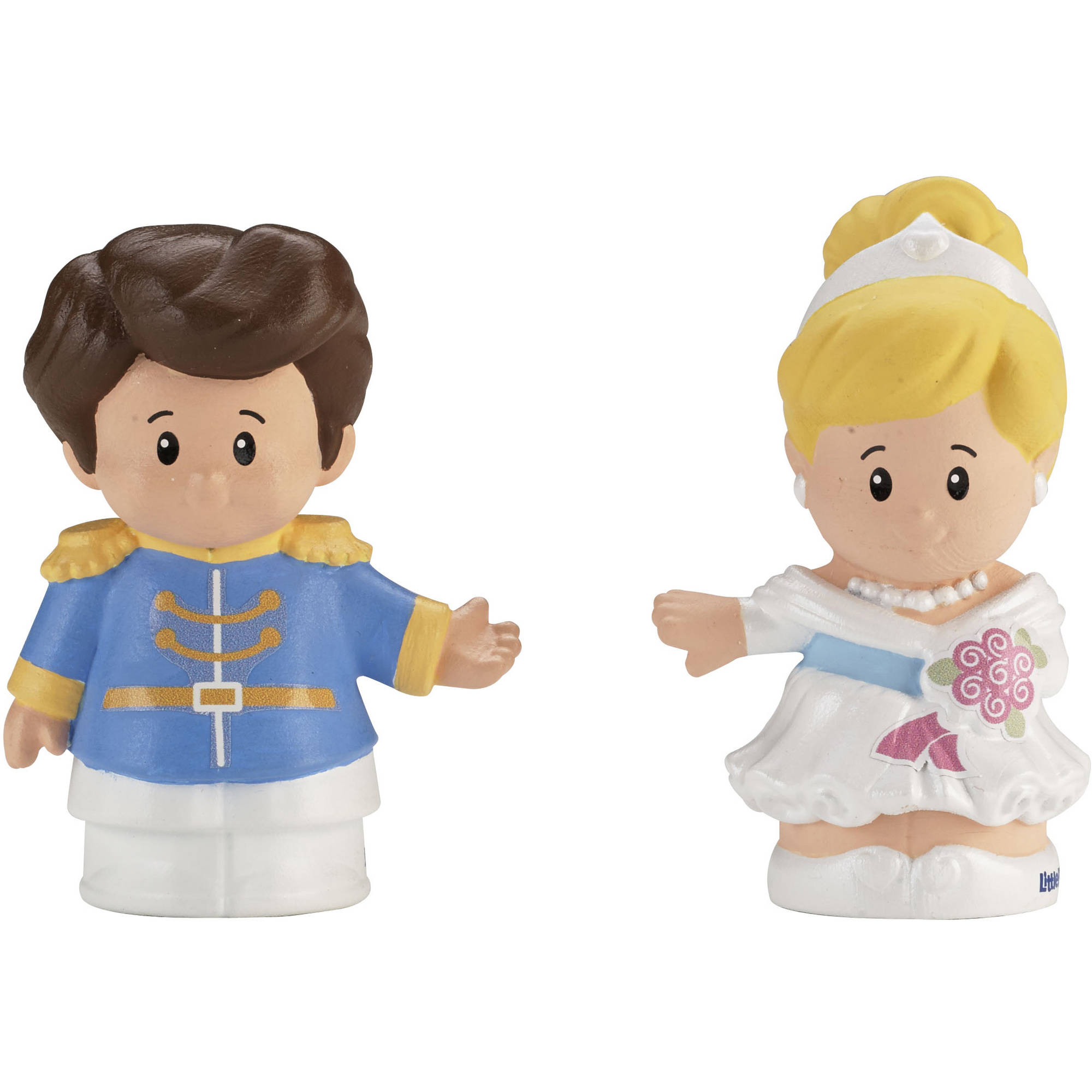 Fisher-Price Little People Disney Cinderella & Prince Charming 2-Pack Action Figures