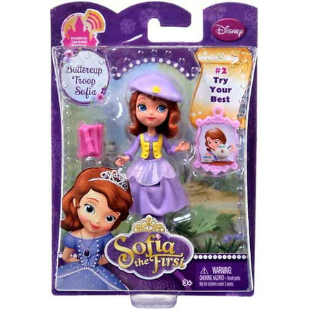 Disney Sofia the First 3 Inch Action Figure Buttercup Troop Sofia, - Sofia The First Sleeping Beauty