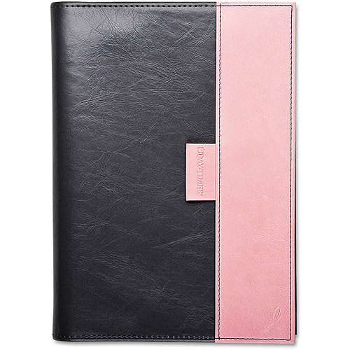 "Day-Timer Pink Ribbon Reversible Planner, 5 1/2"" X 8 1/2"", Pink/gray, 2016"