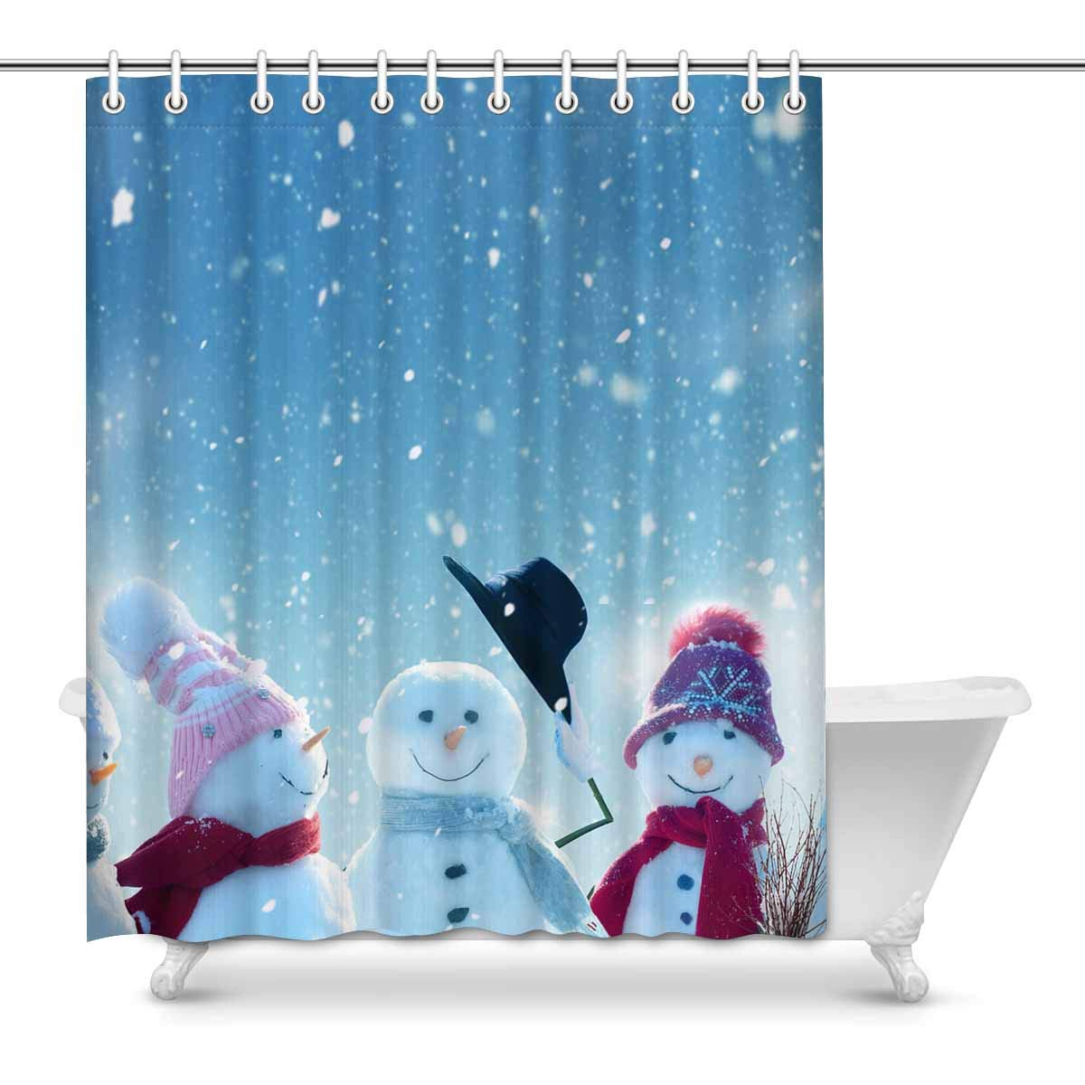 Shower Curtains Home Kitchen Unique Custom Merry Christmas