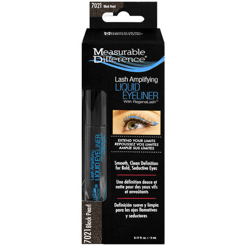 Measurable Difference Lash Amplifying Liquid Eyeliner with RegenaLash, 7021 Black Pearl, 0.17 fl oz