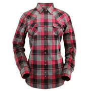 Outback Trading Shirt Womens Long Sleeve Erin Performance Red 42207