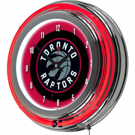 "Toronto Raptors NBA 14"" Neon Wall Clock by"