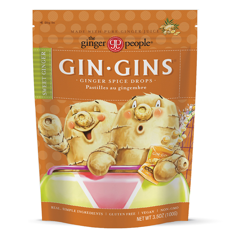 (2 Pack) Gin Gins, Ginger Spice Drops Candy, 3.5 Oz