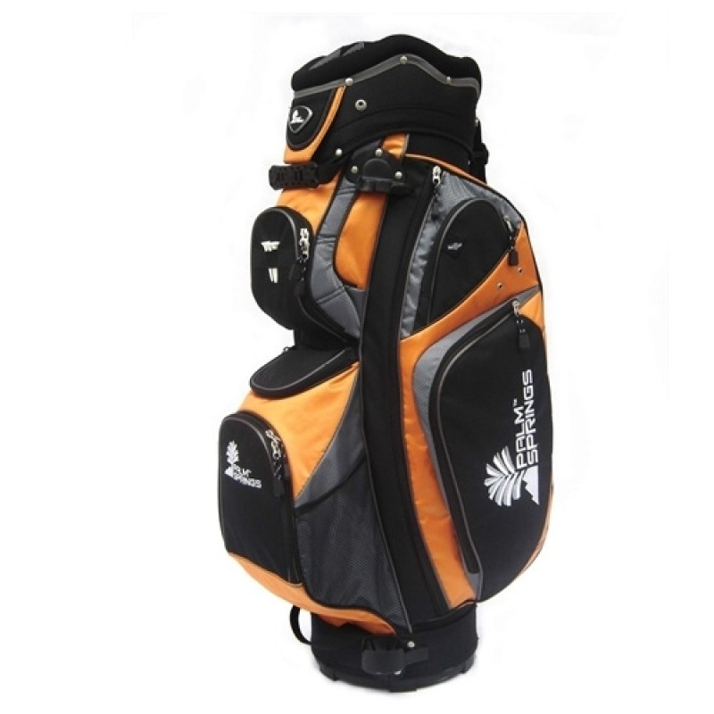 PALM SPRINGS GOLF Orange/Silver 14 Way Full Length Divider Cart Bag - image 1 of 1