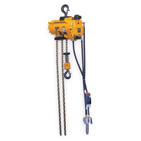 INGERSOLL-RAND ML500KS-2C10-C6 Air Chain Hoist, 1100 lb. Cap., 10 ft. Lft