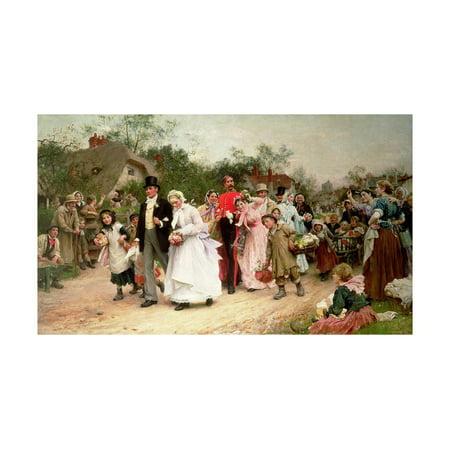 The Village Wedding, 1883 Print Wall Art By Sir Samuel Luke Fildes ()