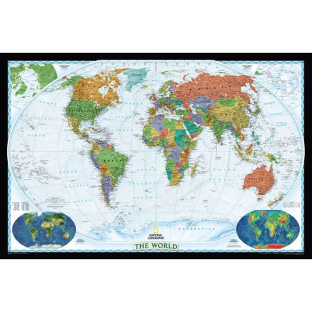 National geographic world political map decorator style giant national geographic world political map decorator style giant giant gumiabroncs Choice Image