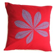 Sustainable Threads Geometric Leaf Cotton Throw Pillow