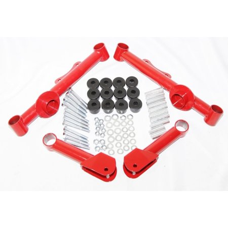 Racing Rear Upper + Lower Tubular Control Arms fit 79-04 Ford Mustang GT LX Red