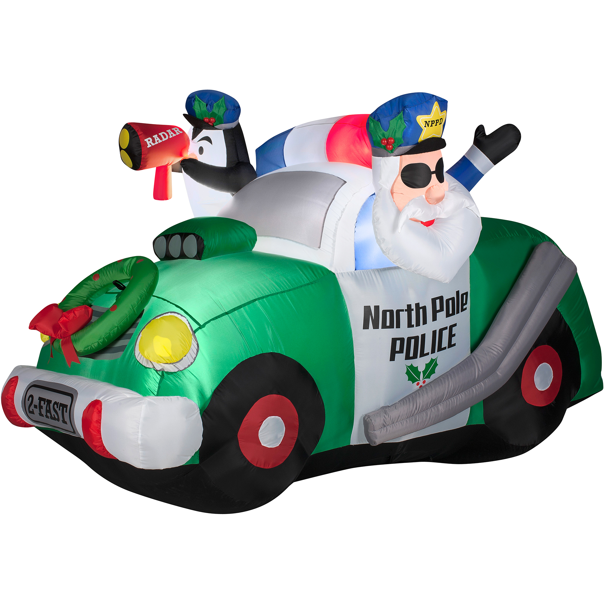 4\' North Pole Police Airblown Inflatable Christmas Prop - Walmart.com