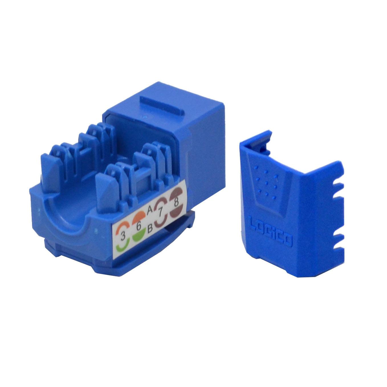 10 lot Keystone Jack Cat6 Blue Network Ethernet 110 Punchdown 8P8C RJ45