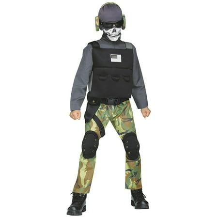 Skull Soldier Child Halloween Costume