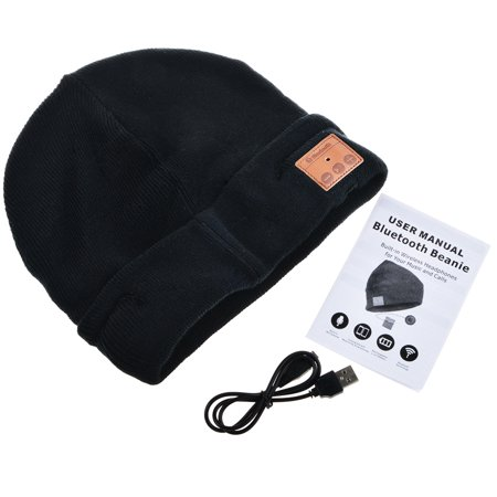 Bluetooth Beanie Hat Cap, Flashmen Wireless Bluetooth Hat with Headphone Headset Earphone Knitted Beanie with Stereo Speakers and Microphone Hands Free Talking for Women Men