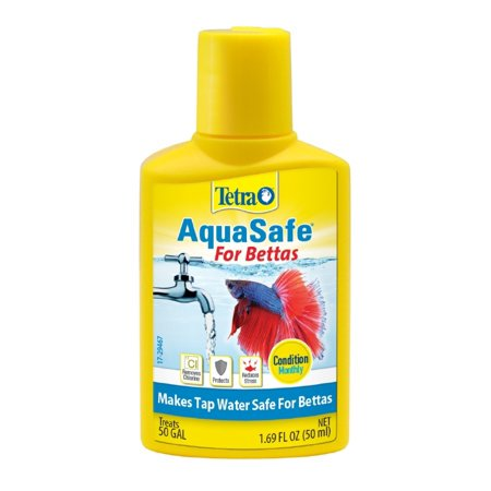 (2 Pack) Tetra Betta Safe Fish Tank Water Conditioner, 1.69-Ounce Terrarium Water Conditioner