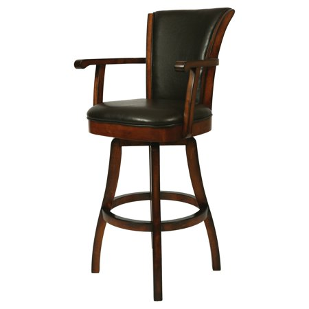 Impacterra Glenwood Swivel Counter Height Stool With Arms Russet Cordovan