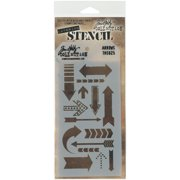 "Tim Holtz Layered Stencil 4.125""X8.5""-Arrows"