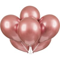 Latex Metallic Balloons, Rose Gold, 11in, 25ct