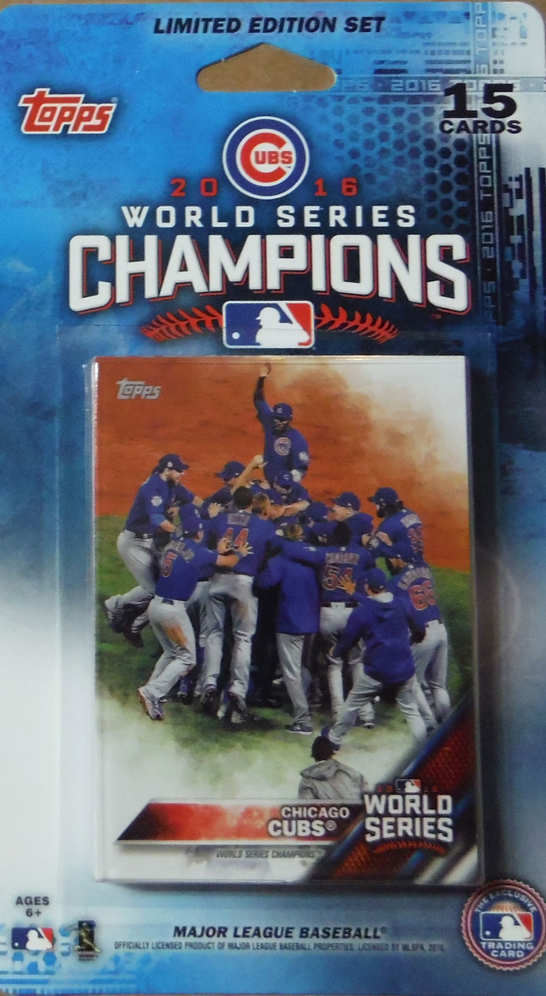 quality design 559c9 249bc Chicago Cubs 2016 Topps WORLD SERIES Commemorative Limited ...