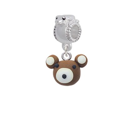 - Fimo Clay Teddy Bear - Frog Charm Bead