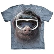 Grey 100% Cotton Powder Pig Graphic Novelty T-Shirt
