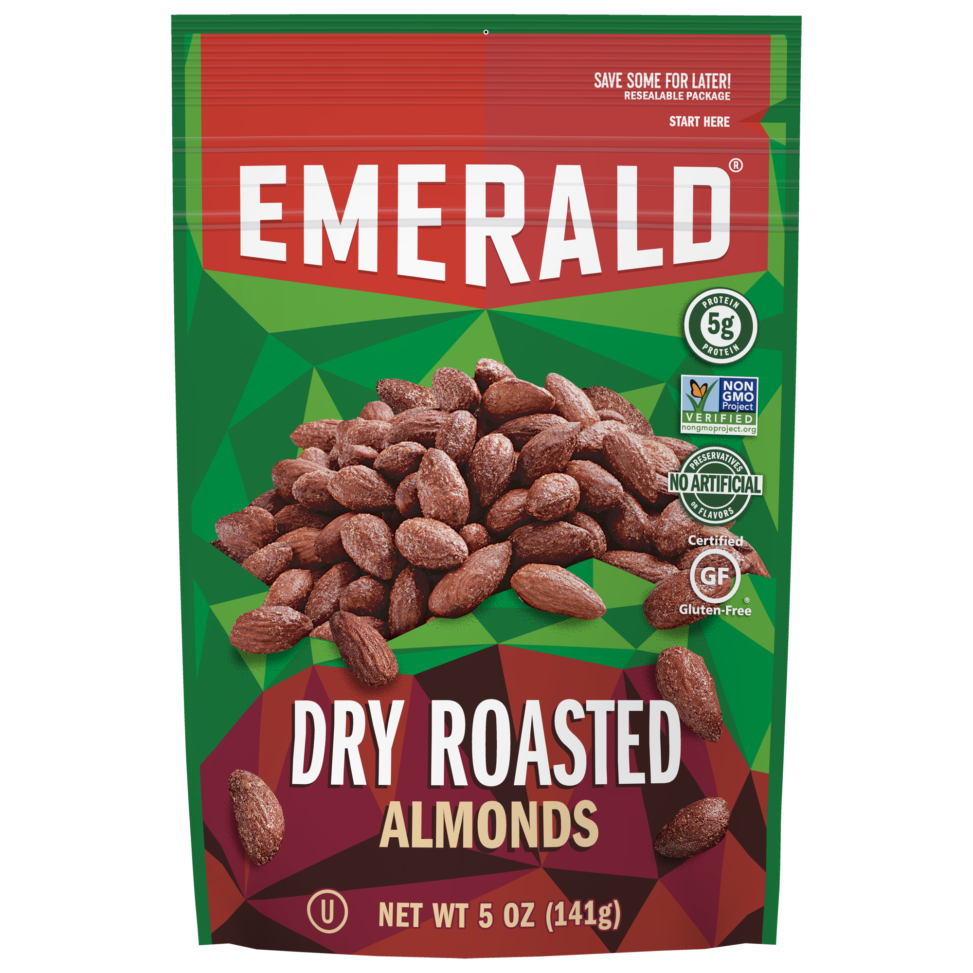 Emerald Nuts, Dry Roasted Almonds, 5 Oz
