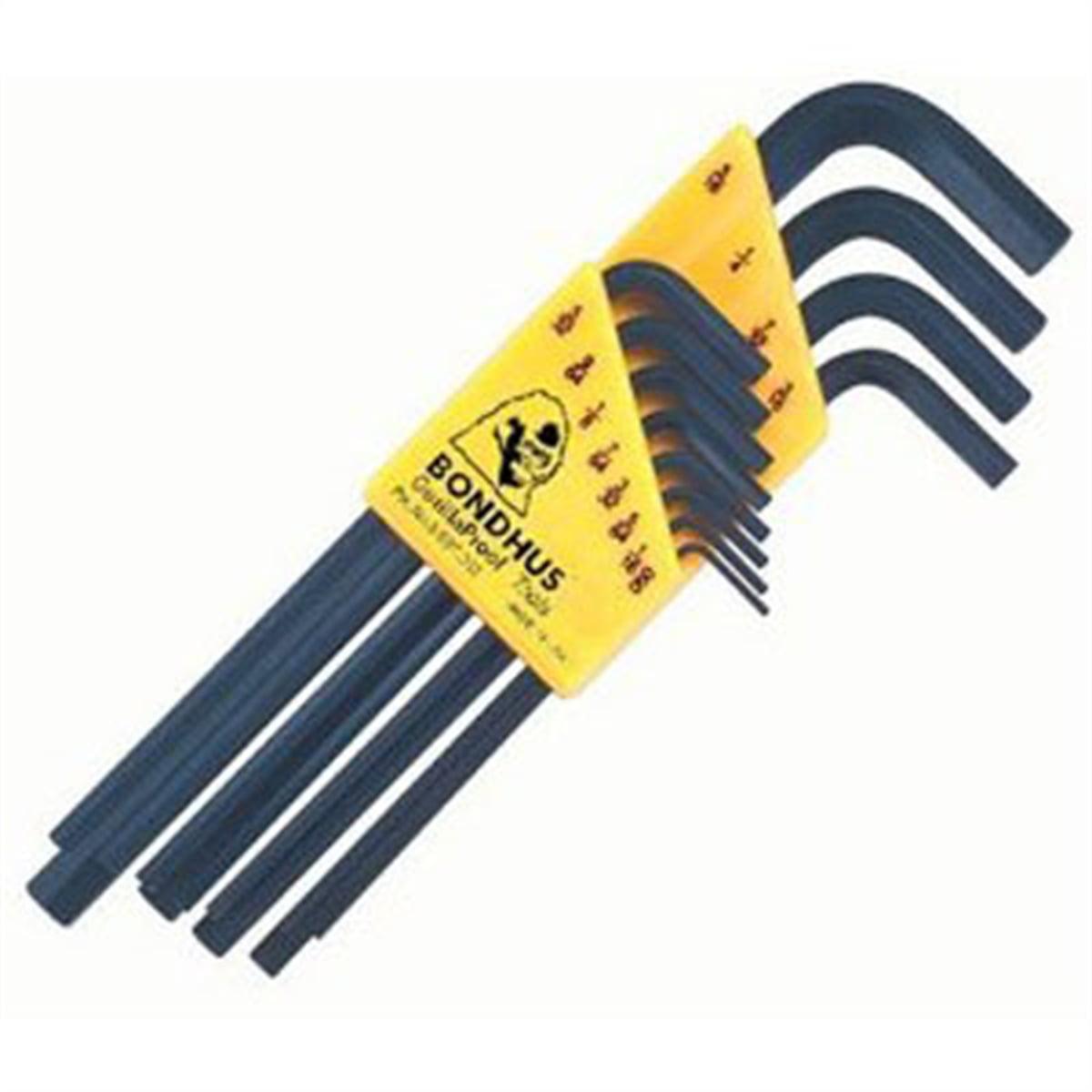 12pc Set L-wrench .050-5/16-Long