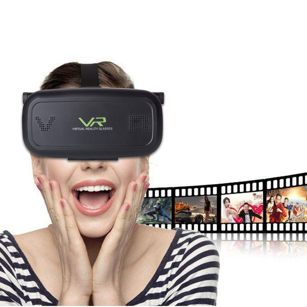 Black 3D Movie Video Games Virtual Reality VR Glasses for 3.5-6 inch Phone~~