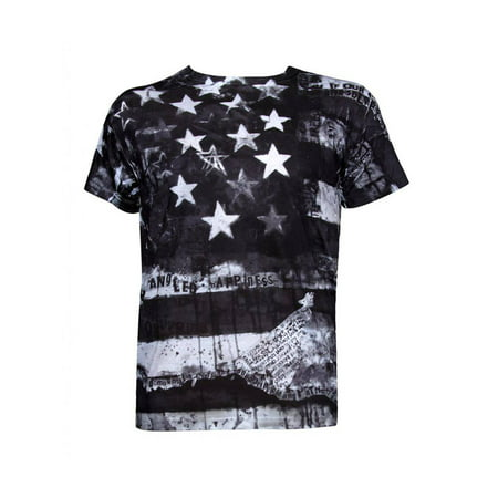0ebfa1ae6dbf2a Mens Black and White America Sublimation T-Shirt - Small - image 1 of 1 ...